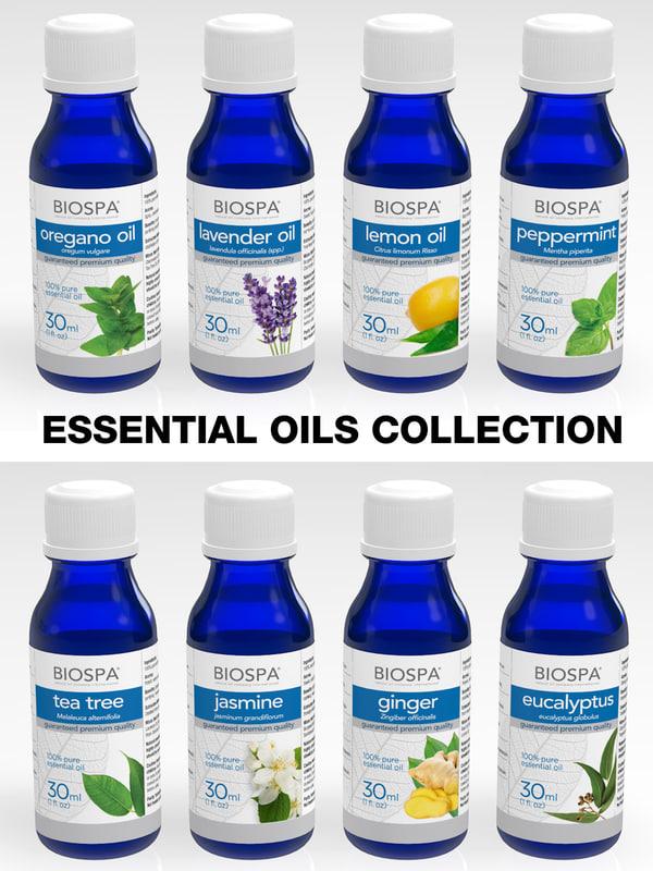 essential oils 3d model