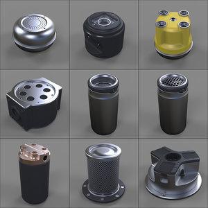 3d model canister -