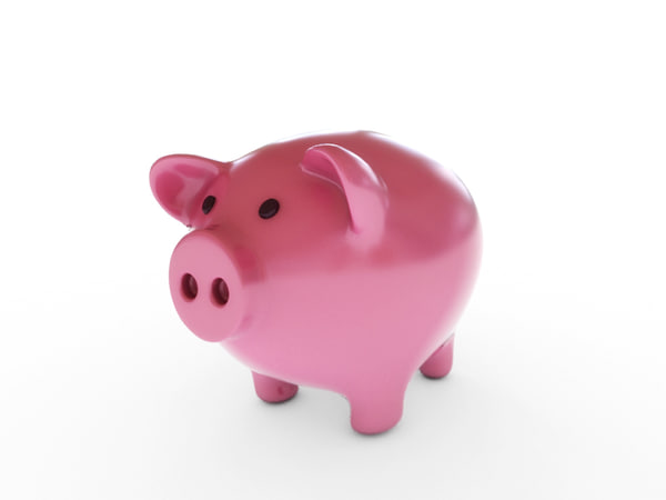 3d cute piggy bank