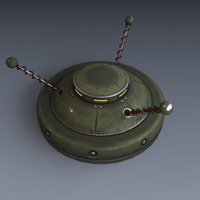 futuristic anti-tank 3d model