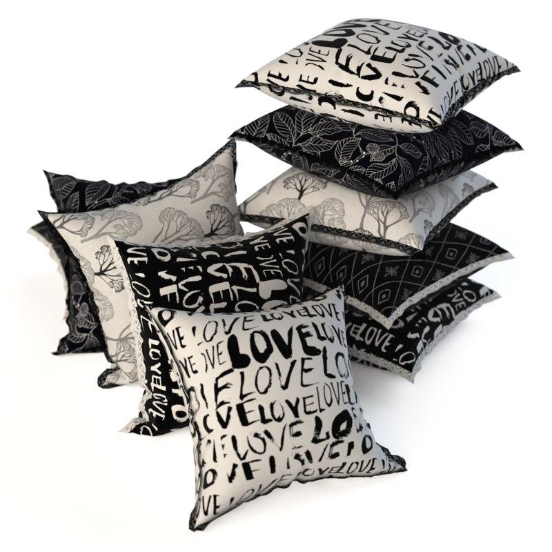 set pillows 3d model