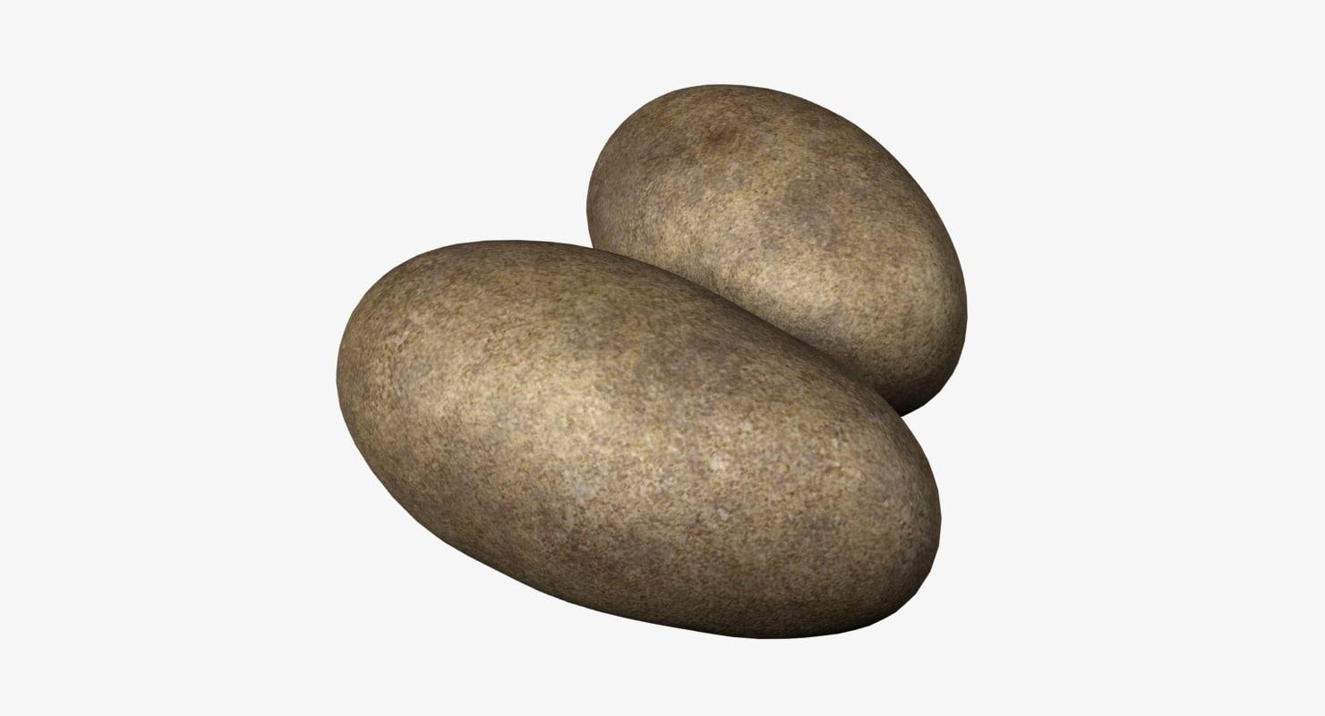 potatoes 3d max