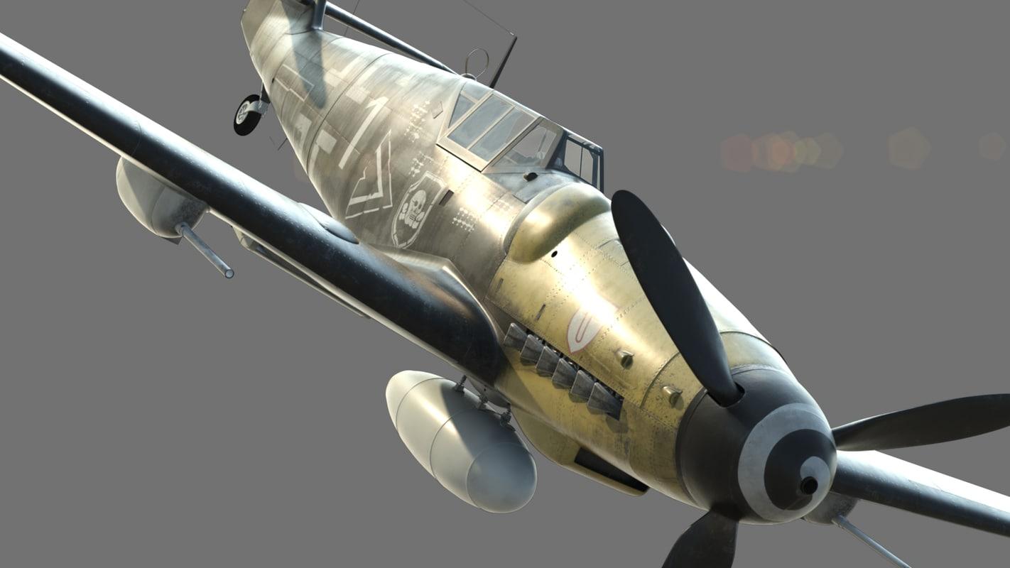 german fighter 3d obj