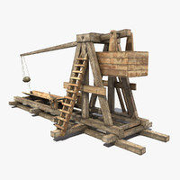 Old Wooden Trebuchet 2
