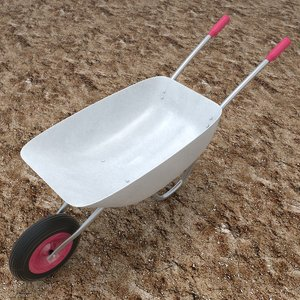 wheelbarrow wheel barrow 3d 3ds