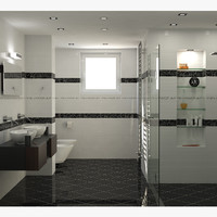 3d photorealistic bathroom interior scene model