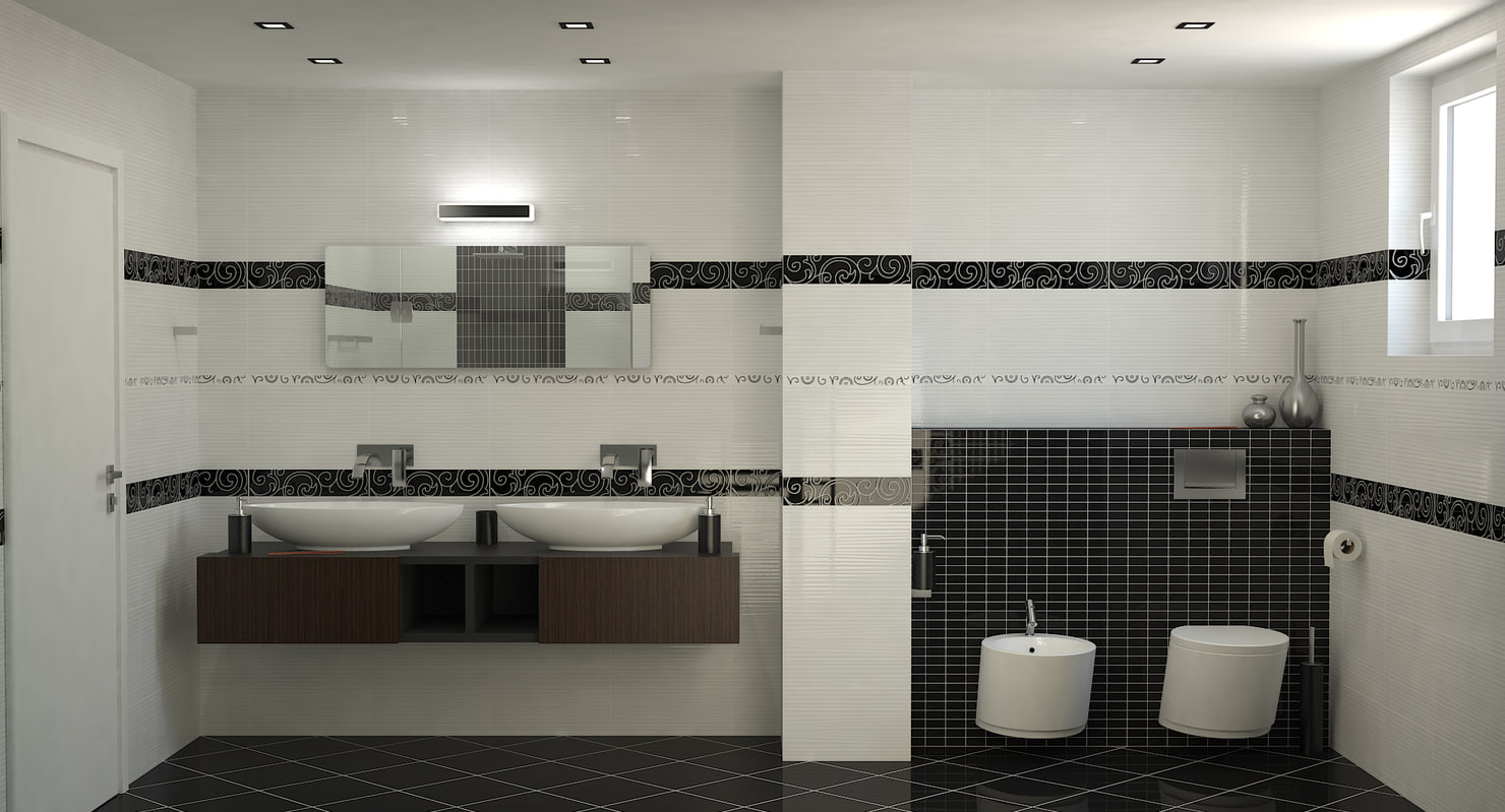 3d photorealistic bathroom interior scene model