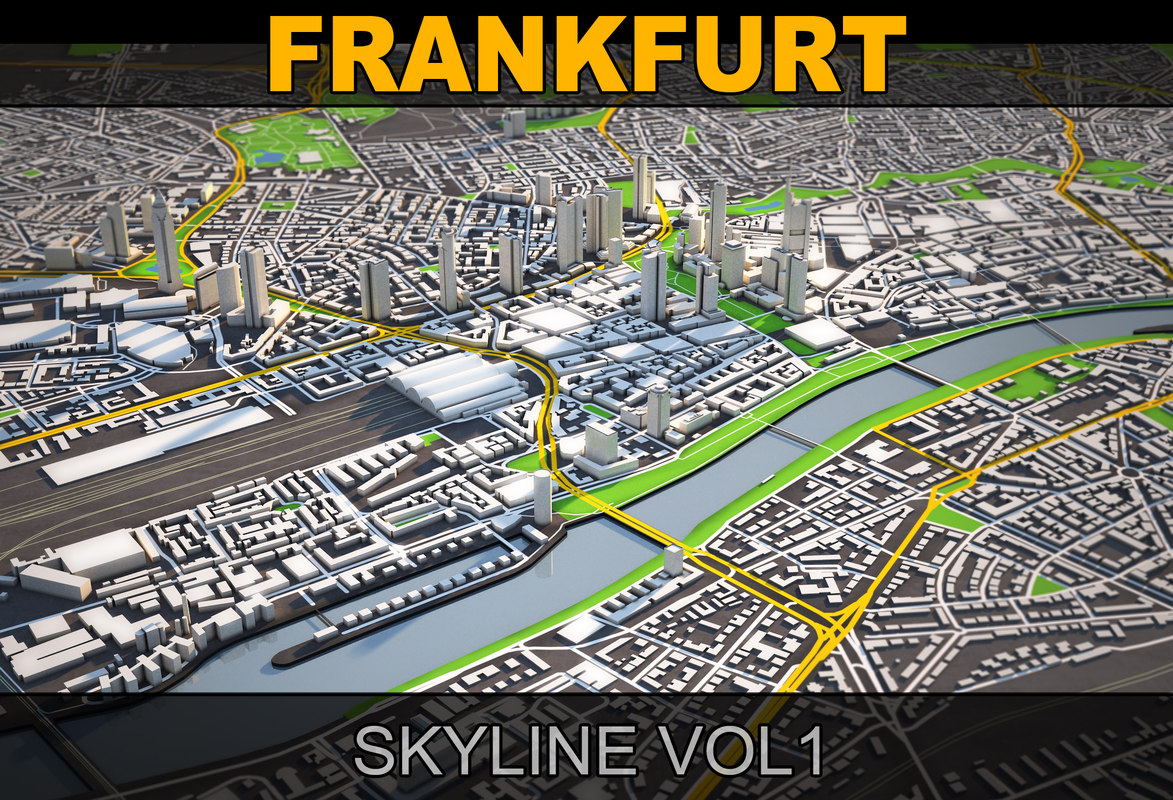 3d model frankfurt skyline vol1