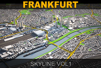 3d model frankfurt skyline vol1