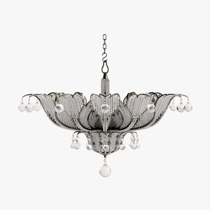 3d model bagues paris chandelier 18116
