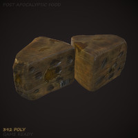 old cheese 3d model