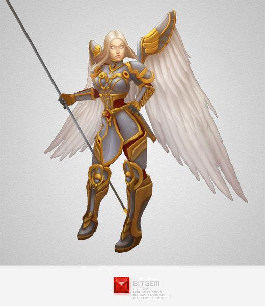 hero angel 3d model