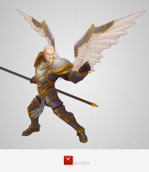 3d hero angelic model