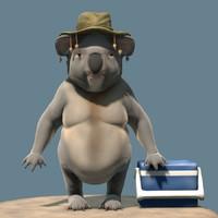 3d model australian bear character