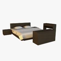 Bed dark wood