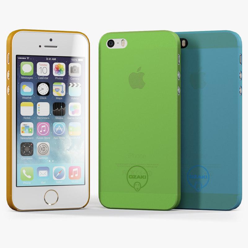 3d model of apple iphone 5s case