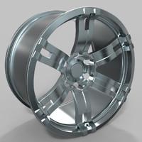 wheel luxury 3d max