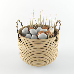 3d basket egg model