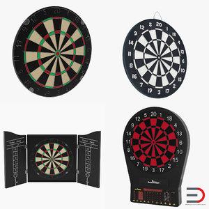 3d dart boards 2 modeled model