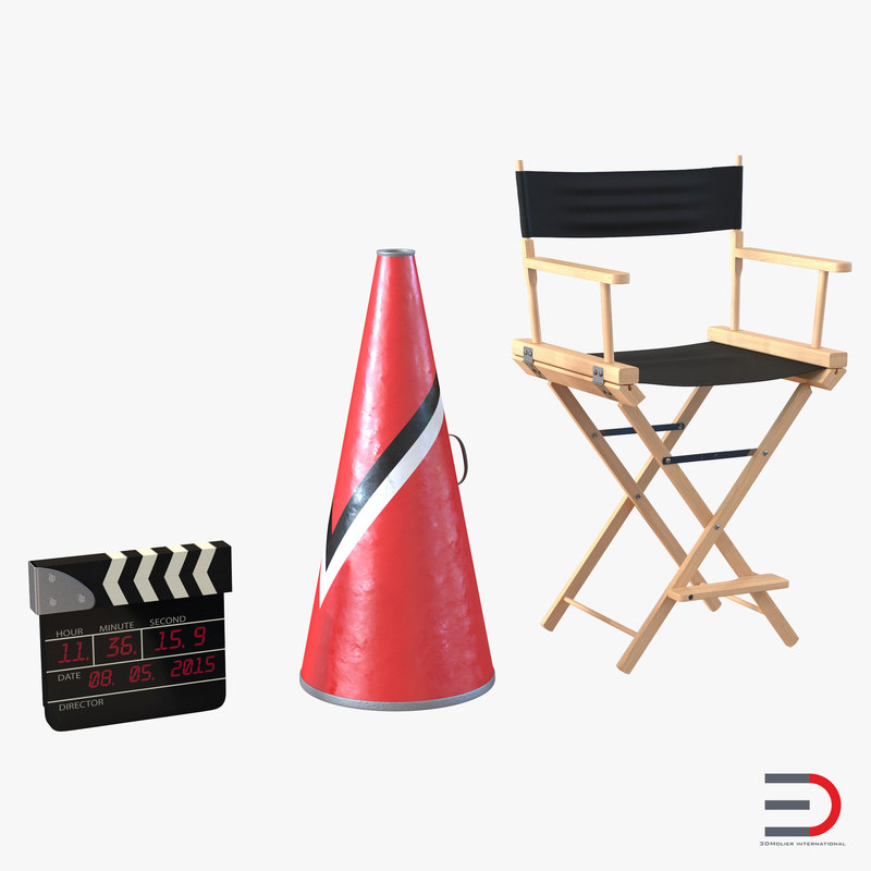 3d director chair accessories