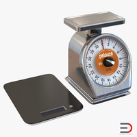 kitchen scale 3d max