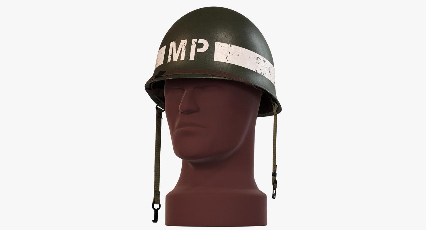 m1 helmet ww2 - 3d max