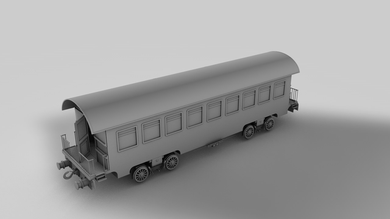 train 3d obj