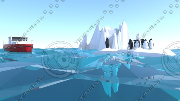 3d iceberg ice model