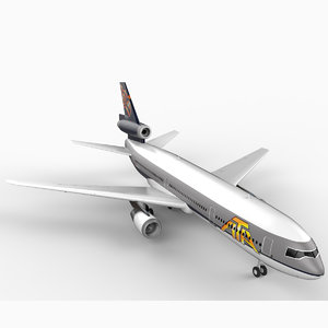 dc-10 ata airlines 3d max