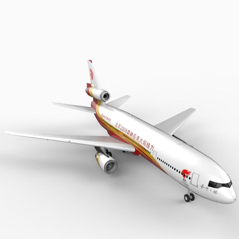 dc-10 air china 3d model