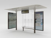 New Paris Bus Stop Abribus