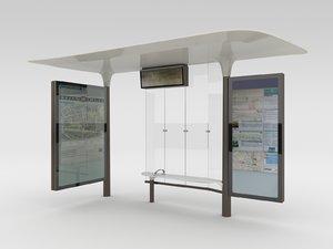 3d new paris bus stops