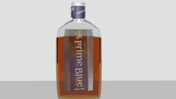 free ma model prime blue whiskey bottle