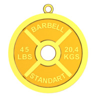 barbell weight 3d obj