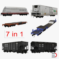 Railroad Industrial Cars Collection