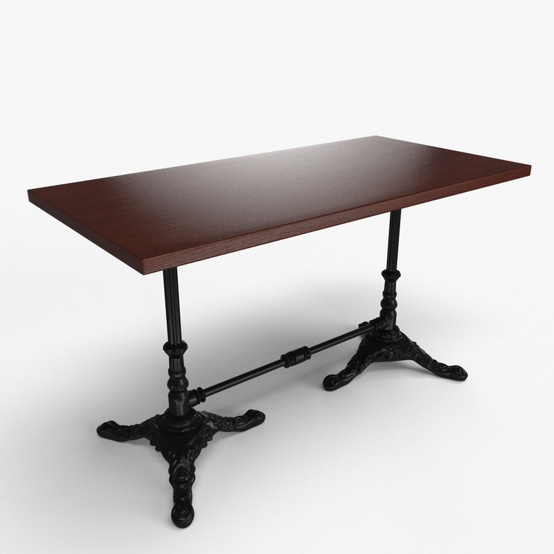 3d model table bar