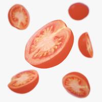 3d tomato cherry half
