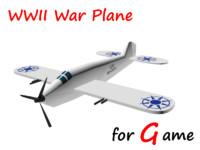 3d ready war plane model