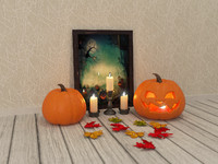 maya halloween decorative set
