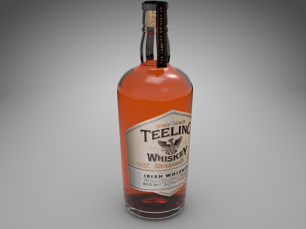 c4d bottle whiskey