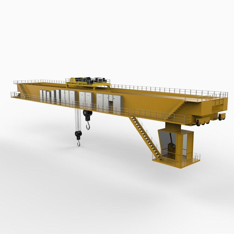 Overhead Crane Bridge Design : Overhead crane d model
