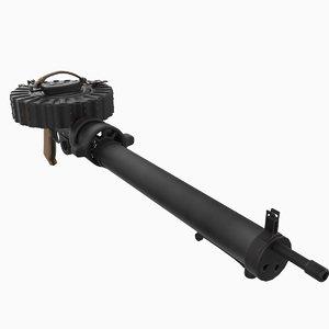 war machine gun lewis 3d max