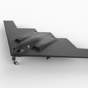 spirit stealth bomber b-2 3d model