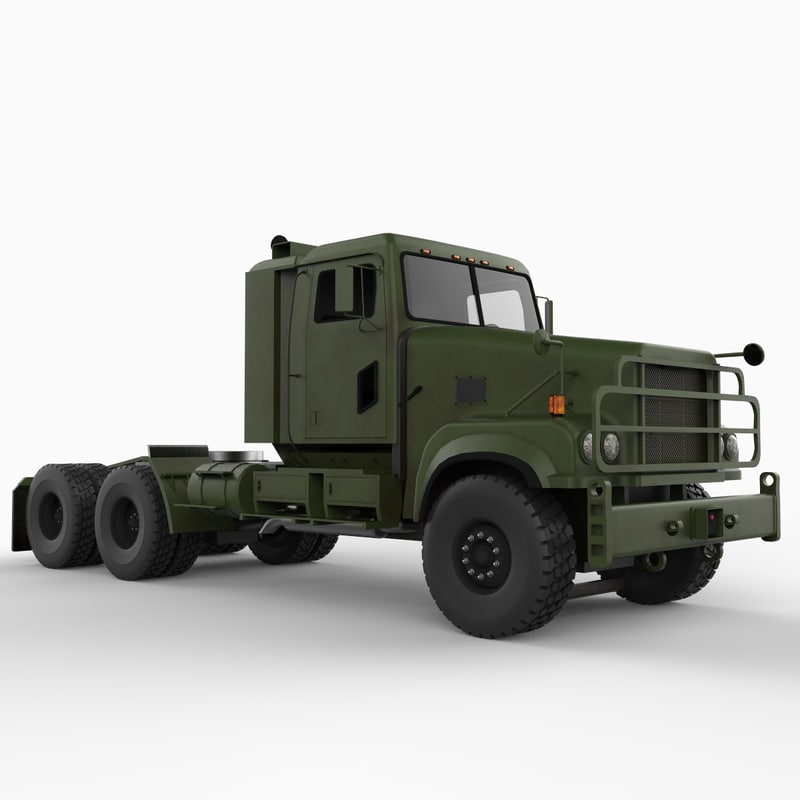 3d model m915a5 army truck