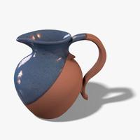 c4d ceramic pitcher vase