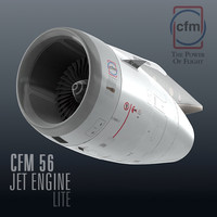 3d cfm56 jet engine lite