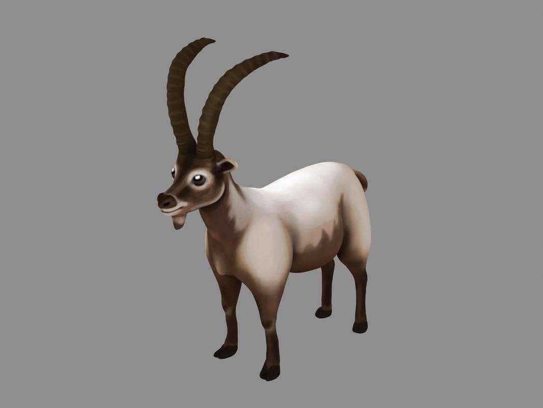 max stylized alpine ibex
