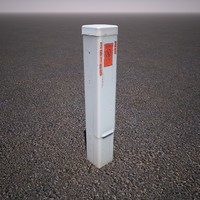cable utility box 3d model