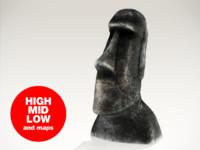 moai statue easter 3d max
