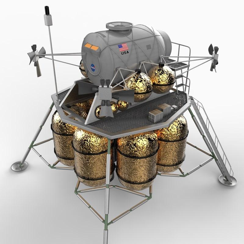 3d altair lunar surface access
